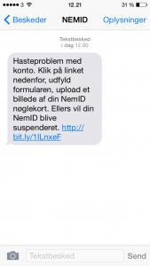 sms fra Nemid er falsk