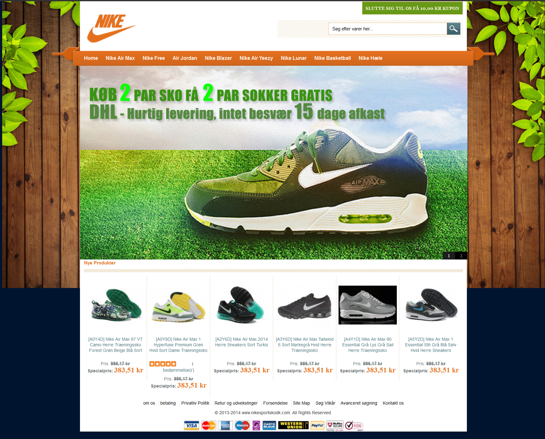 Falsk Nike webshop
